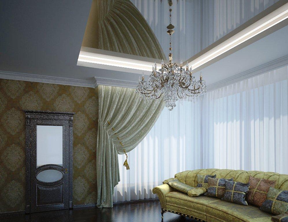классический натяжной потолок картинки фото необычно